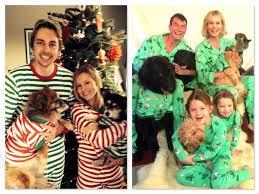 wearing matching family pajamas kristen bell dax