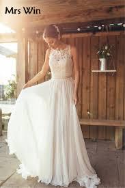 brautkleid chiffon vintage lace bohemian wedding dresses 2017 abito da sposa