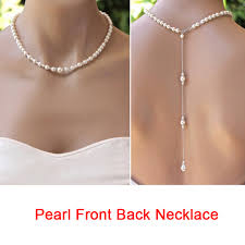 back drop necklace images Simple pearl back drop necklace long back necklace pearl for jpg