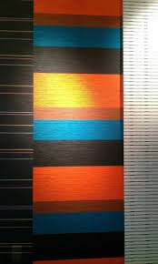 home design turquoise and orange color palette window treatments