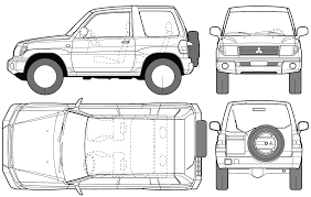 mitsubishi evo drawing car mitsubishi pajero pinin the photo thumbnail image of figure