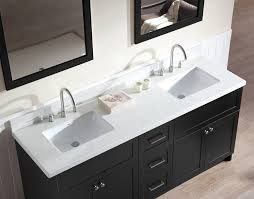 Sink Vanity Set With White Quartz Countertop In Black Ariel Bath - Bathroom vanities with quartz countertops