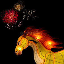 firework lantern lantern with firework at lantern festival thailand stock