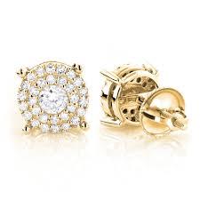 cheap diamond earrings diamond stud earrings 0 6ct 14k gold