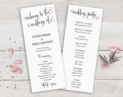 Order Wedding Ceremony Program Gold Wedding Program Template Order Of Ceremony Printable