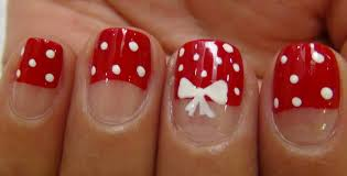 40 stylish and simple bow nail art design ideas