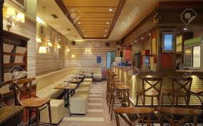 Wooden Interior by Cafe Interior With Wooden Furniture Lighting Equipment And
