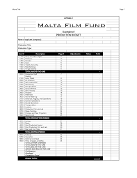 Free Download Budget Template Film Budget Template Budget Template Free