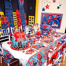 Table Centerpieces For Party by Spider Man Party Table Idea Table Decorating Ideas Spider Man