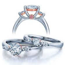 Wedding Ring Sets For Her by Three Stone Wedding Ring Set For Her Jeenjewels