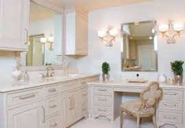 Bathroom Makeup Vanities Vanities With An Enlarged Vanity For Her Featuring A Beauty