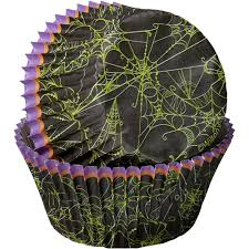 halloween spider web cupcake liners wilton