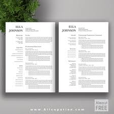 microsoft resume templates 2 allcupation free or almost free professional resume template cv