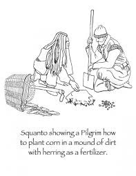 manyhoops squanto thanksgiving coloring book intended for squanto