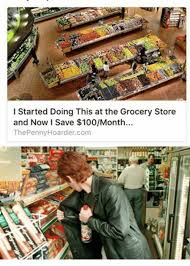 i started doing this at the grocery store and now i save 100month