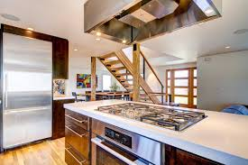 awesome grey color kitchen island cooktop with mounted kitchen