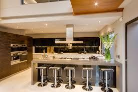 kitchen island dark brown leather backless stool plus white