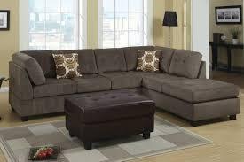 Modern Sectional Sofas Microfiber Furniture Home Brown Microfiber Sectional Sofa 81 With Brown