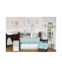Gray Chevron Crib Bedding Sweet Jojo Designs Zig Zag Turquoise Grey Chevron 9 Crib