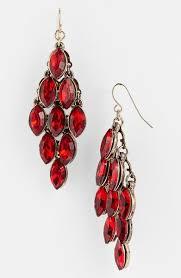 Red Chandelier Earrings Large Red Chandelier Earrings Beautify Themselves With Earrings