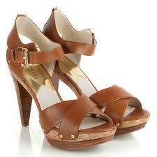 michael kors tan wells women u0027s high heeled sandal