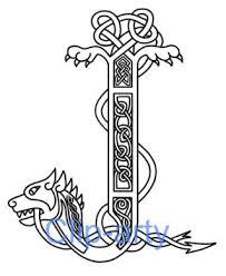 illumination letters and flowers celtic illuminated letters