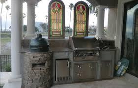 outdoor kitchen backsplash big green egg custom cooking island outdoor kitchen designs