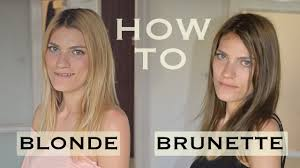 blonde to brunette hair diy how to dye your hair at home from blonde to brunette youtube