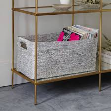 West Elm Console Table by Metallic Woven Console Basket West Elm Au