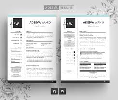Full Resume Template Simple Resume Template Wahid Resume Templates Creative Market