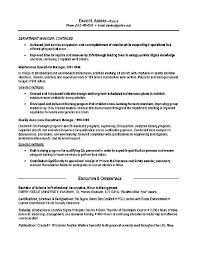 Maintenance Resume Examples by Logistics Resume Example Operations Production Military