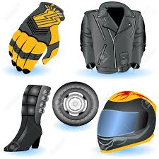 motorcycle helmets and jackets motorcycle icons royalty free cliparts vectors and stock