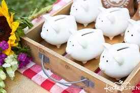 piggy bank party favors how to throw a relaxed co ed baby q kate aspen