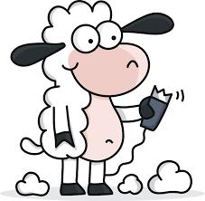 cartoon sheep coloring pages
