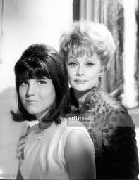 portrait of lucille ball right and her daughter lucie arnaz