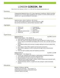 Nurse Resume Objective Free Registered Nurse Resume Templates Jospar
