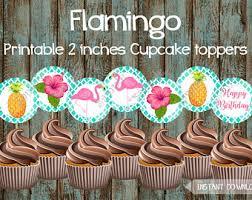 Luau Cake Decorations Luau Cupcake Toppers Printable Luau Cupcake Wrappers