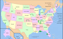 map showing states and capitals of usa map of us states with capital capital in the