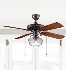 Ceiling Fan With Light Heron Ceiling Fan With Clear Ogee Shade 4 Blade Ceiling Fan With