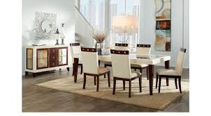savona ivory off white 5 pc rectangle dining room contemporary