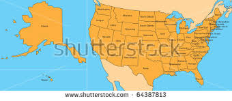 map of the united states jigsaw map united states including alaska stock illustration