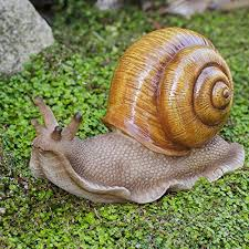 the hosta loving garden snail ornament gardens2you