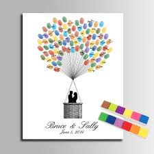 wedding gift book diy wedding guest book fingerprint signature canvas painting sweet