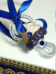 12 new royal prince baby shower necklace favors boys royal blue