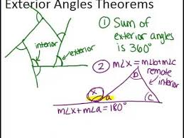 What Is Interior And Exterior Angles Exterior Angles Theorems Lesson Geometry Concepts Youtube