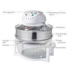 1300w kitchen hometech wave halogen oven 17 quart cooker roast