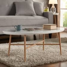 Oval Wood Coffee Tables Oval Coffee Tables You Ll Wayfair