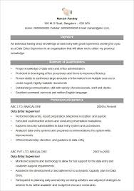 Sample Resume Data Entry by Download Resumes Formats Haadyaooverbayresort Com