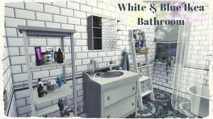Ikea Bathroom Sims 4 Blue U0026 White Ikea Bathroom Build U0026 Decoration For