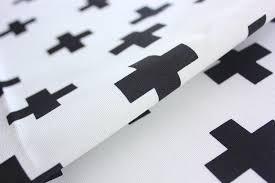 cross fabric plus fabric monochrome black and white buzoku